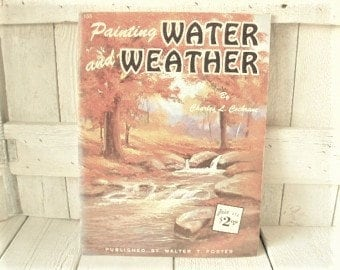 Vintage painting book Water and Weather art instruction Walter Foster 1960s- free shipping US