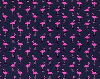 Jersey   printed   Flamingos   pink/marine