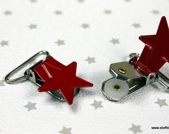 Metal Clips   Star   Red
