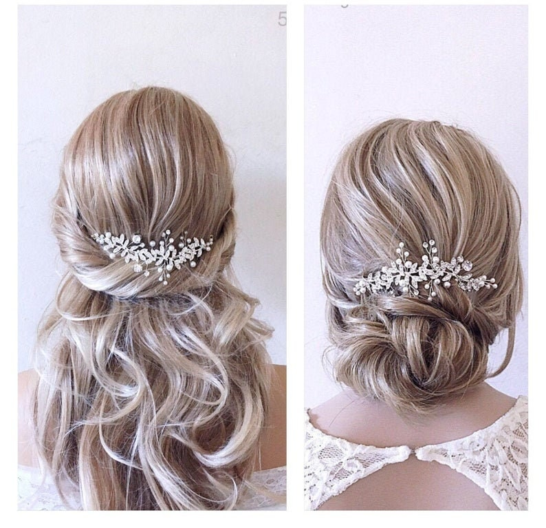 Bridal hair piecewedding hair piecebridal headpiecewedding image 0