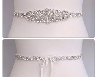 Crystal Bridal belt wedding dress sash diamond pearl bridal sash, queen