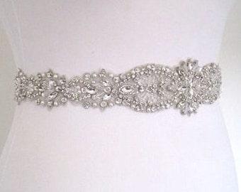 Crystal Bridal sash, bridal belt, wedding dress belt, wedding belt, bridal sash belt, crystal bridal sash, crystal wedding belt,