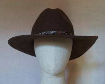 0e3b2f31ac275 Brown wool western hat made in USA