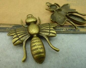 5pcs 40x44mm The Bee  Antique Bronze Retro Pendant Charm For Jewelry Bracelet Necklace Charms Pendants C4099