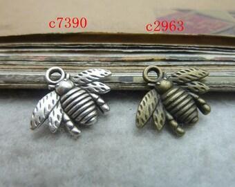 50pcs 16x20mm The Bee  Antique Bronze  Retro Pendant Charm For Jewelry Bracelet Necklace Charms PendantsC7390-C2963