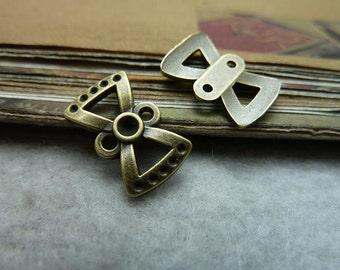 100pcs 10x15mm The Bowknot  Antique Bronze Retro Pendant Charm For Jewelry Bracelet Necklace Charms Pendants C6893