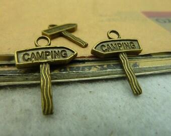 20pcs 17x21mm The Guidepost Antique Bronze Retro Pendant Charm For Jewelry Bracelet Necklace Charms Pendants C3670