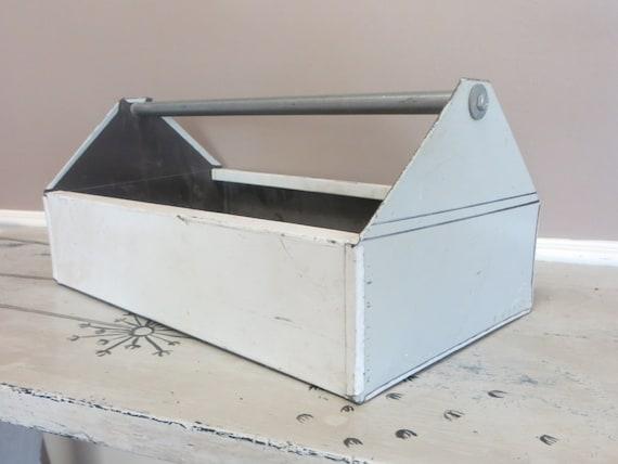 Industrial Metal Carryall Grey Storage Storage Box Storage Tin | Etsy