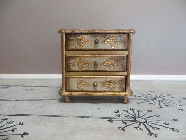 Style By Mele Ornate Gold Jewelry Box Jewelry Storage Storage   Etsy