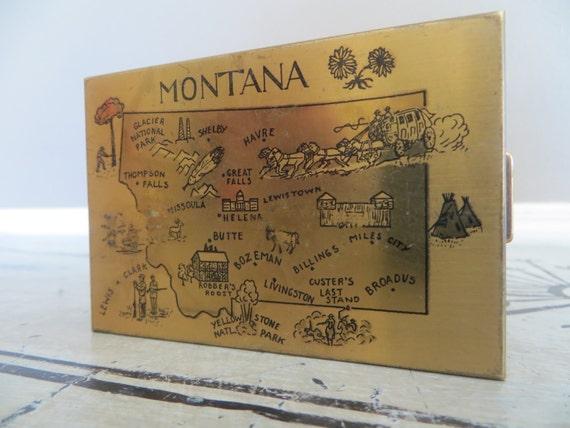 Vintage Montana Compact Makeup Compact Blush Compa
