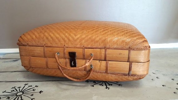 Woven Bamboo Suitcase Wicker Suitcase Wicker Stora