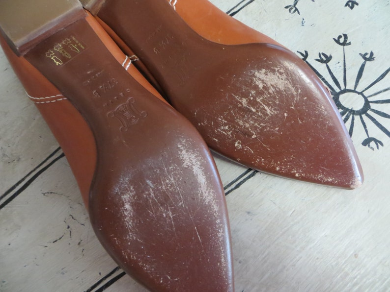 Mujer Diseñador Italiano Cuero Zapatos Etsy Celine Fino De 5Xqwp8Z