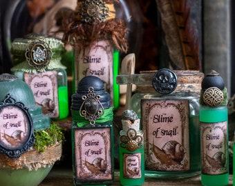 Slime of Snail Halloween Potion Bottle Decor for Halloween, Witch Decor, Props, Halloween Potion Bottles