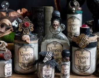 Vampire Dust Halloween Potion Bottle, Apothecary Bottle, Magic Potion Bottles, Witchcore, Halloween Decor, Halloween Party