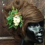 Moss Hair Clip- Fairy Costume- Elf Costume- Fairy Hair- Forest Fairy- Festival Hair- Hand Fasting- Fairytale Wedding- Woodland Fairy- Elf
