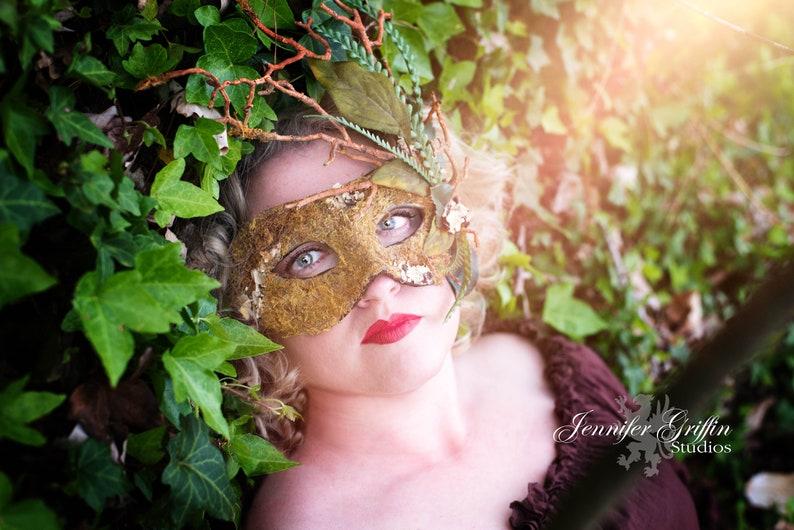 Woodland Mask Greenman Mask Masquerade Mask Woodland Fairy image 0