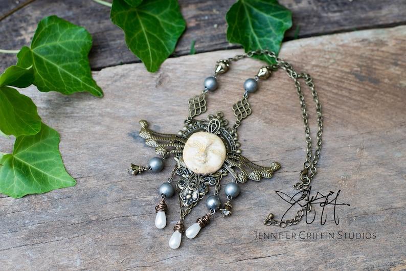 Unique Fairy Assemblage Necklace Art Jewelry Necklace Hippie image 0