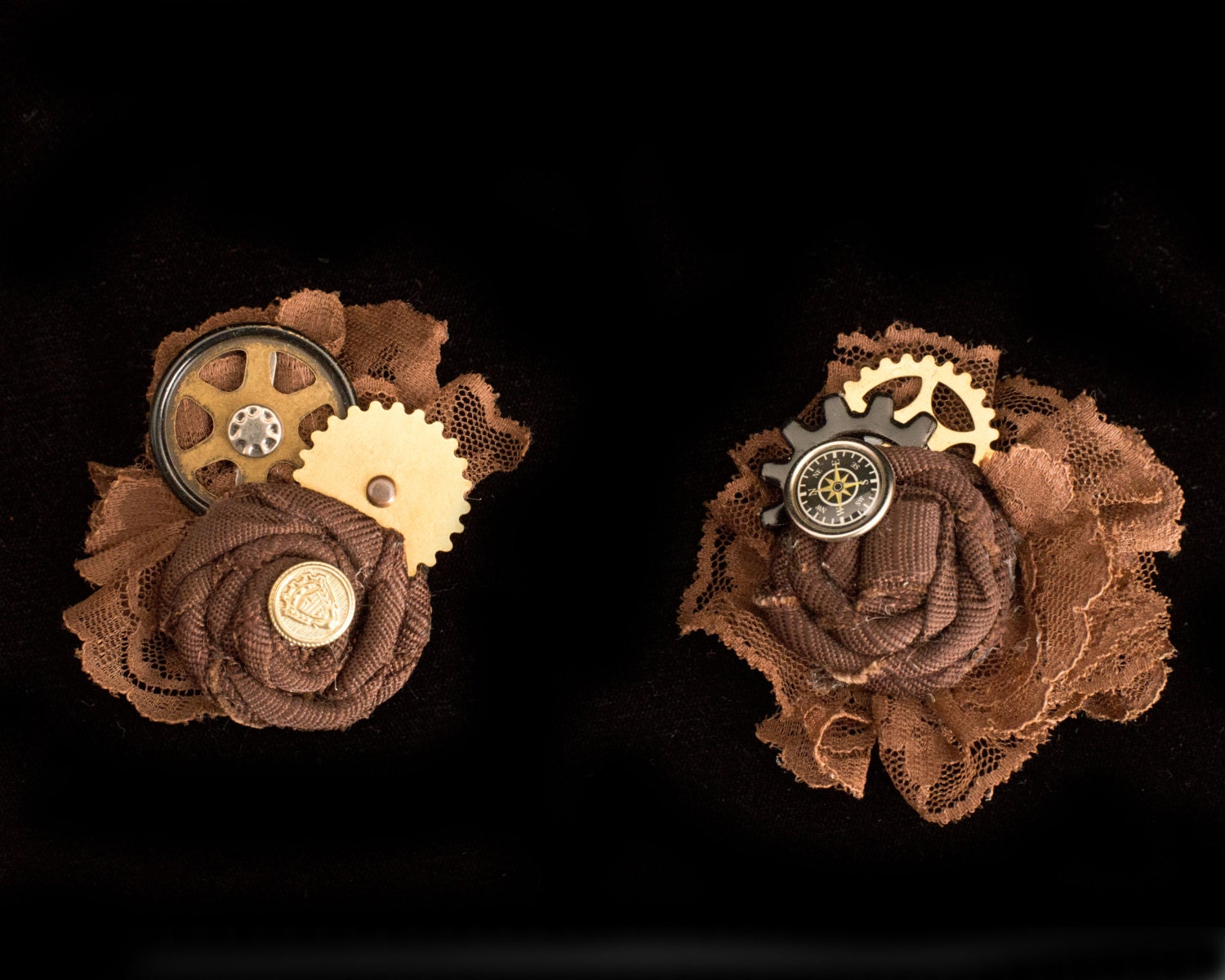 Steampunk Wedding Gifts: Brown And Brass Steampunk Wedding Fascinator Steampunk Hat