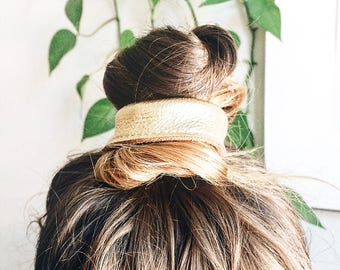 Leather Hair Tie. Hair Accessories. Elastic for hair and Wrist. Hair Elastic. Hair Ties. Leather hair Accessories.