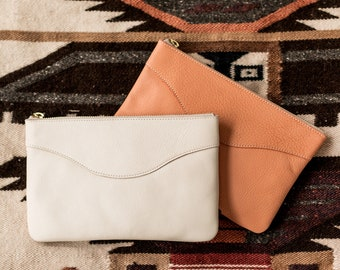 MADELINE Leather Clutch. Leather Bag. leather Purse. Leather Clutch Purse. Leather Handbag. Wedding Clutch. Simple Purse