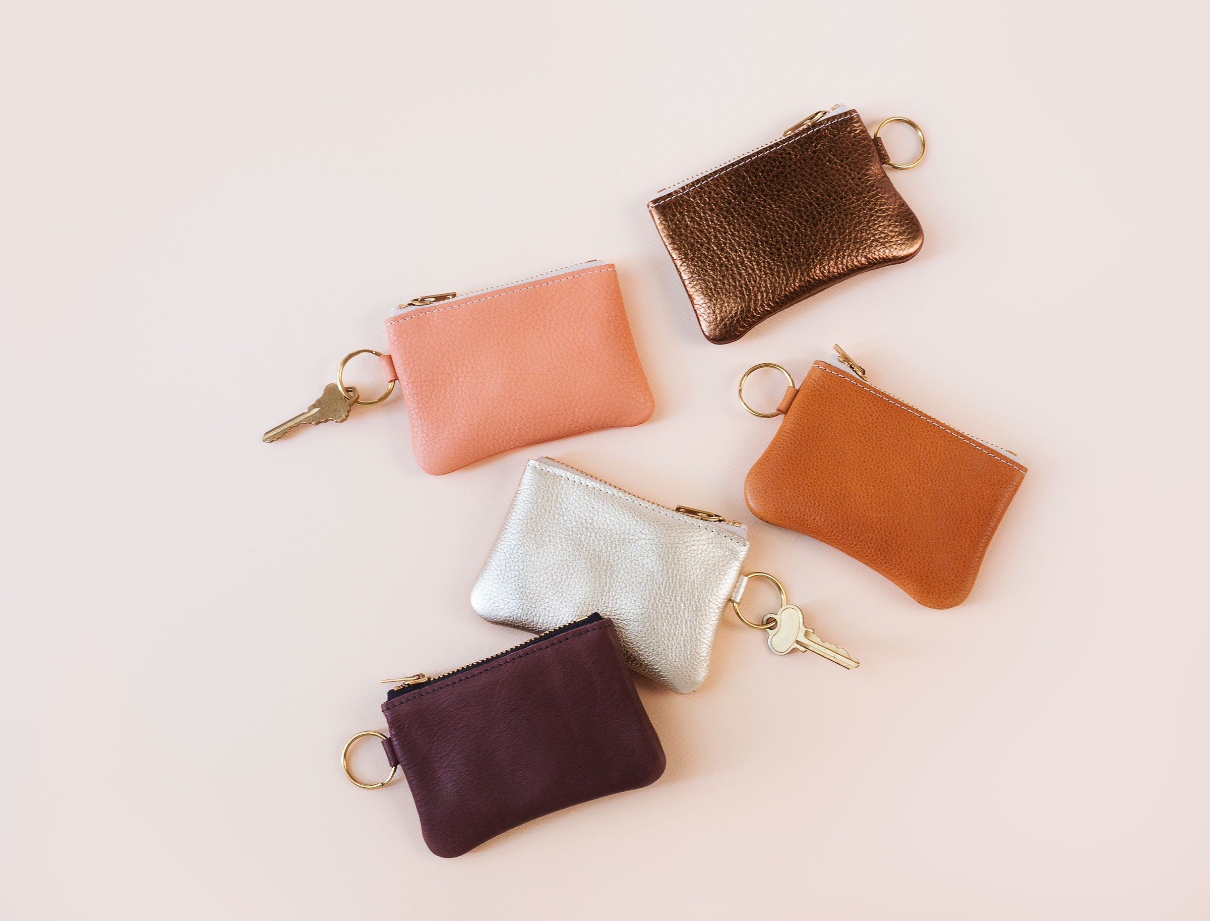 Leather Keychain Pouch. Keychain Wallet. Leather pouch with  d021f6418f38