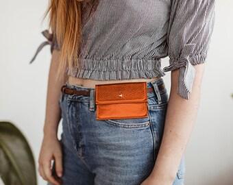 Sam Metallic Wallet.  Leather Belt Bag. Belt Wallet. Leather Wallet. Simple Leather Wallet. Leather Button Wallet. Business Card Holder
