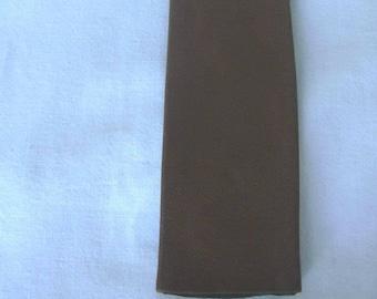 Pullman Paris Carmel Brown Leather Tartan Plaid Back Skinny Thin Neck Tie