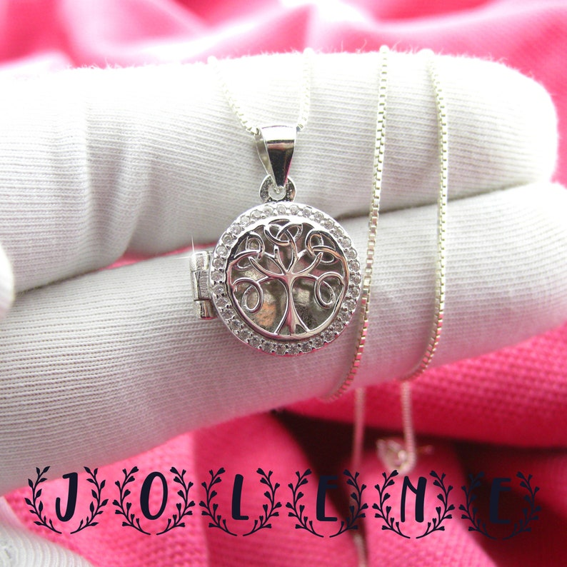 gift for her Pendant tree of life Sterling Silver Tree of Life Necklace 925 Silver Long Chain Jewelry Gift For Her small pendant