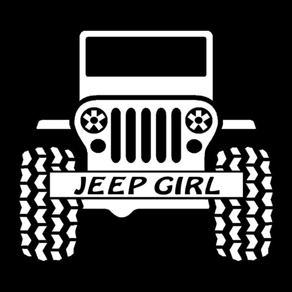 Jeep Girl Jeeps Are For Girls Jeep Vinyl Decal Jeep Etsy