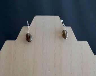 Faceted Smokey Quartz Earrings