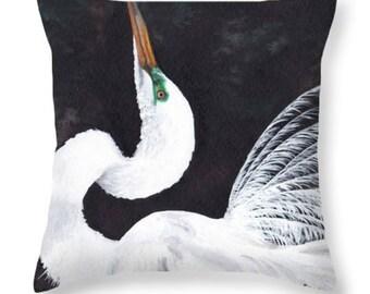 Egret Pillow