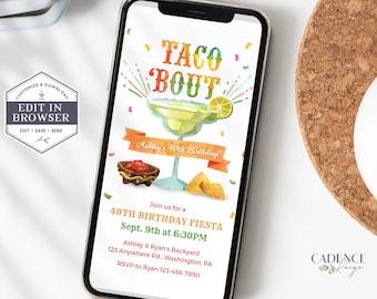 Taco Bout A Birthday Party Invite, Cinco De Mayo, Any Age Fiesta Birthday, Phone Invitation, Mobile Invite, Fiesta Birthday, Digital, A24