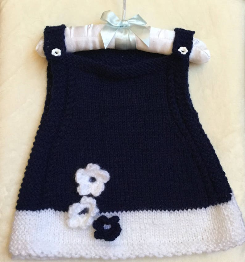 644a1c6c5 Hand Knit Baby Dress 3 to 6 months . Made to order