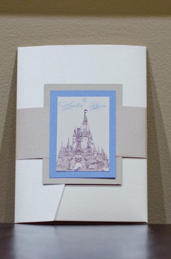Cinderella Wedding Invitation Disney Wedding Fairytale Etsy