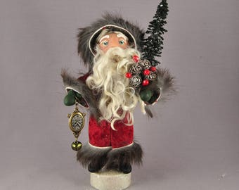 Old World Belsnickle Style Santa Claus Art Doll