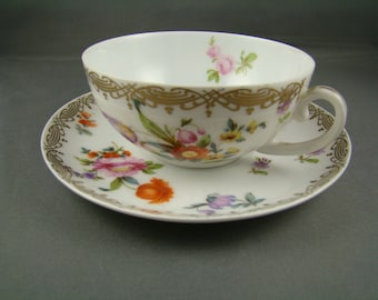Vintage Imperial Empire Austria Tea Cup And Saucer