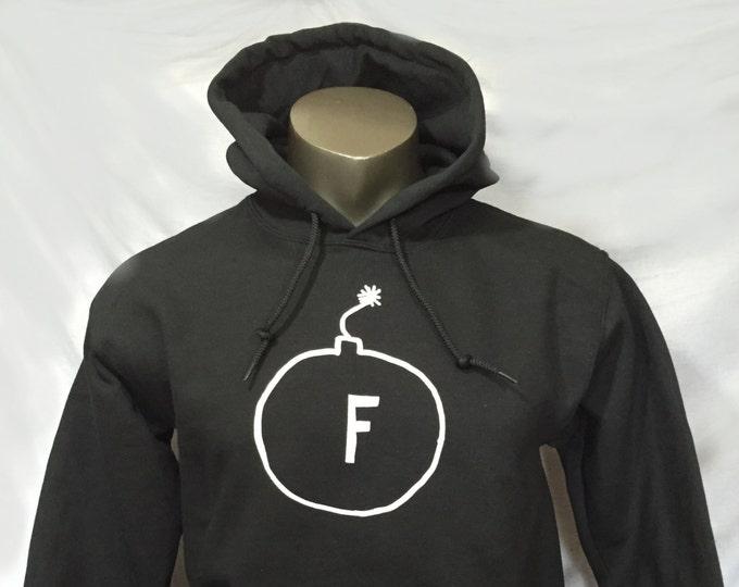 F-Bomb Hooded Sweatshirt, Fbomb Hoodie, Pullover