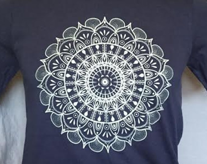 Mandala by Travis!  The Universe Blooms, Yoga Tee, Festival Shirt