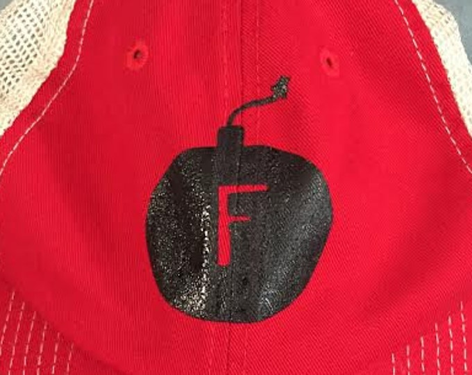Trucker Hat, F-Bomb, Red, Funny, Father's Day