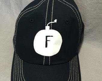 Navy Baseball Hat, FBomb, Gift Under 20, Gag Gift,  Weird