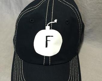 Navy Baseball Hat, FBomb, Gift Under 20, Gag Gift,  Weird