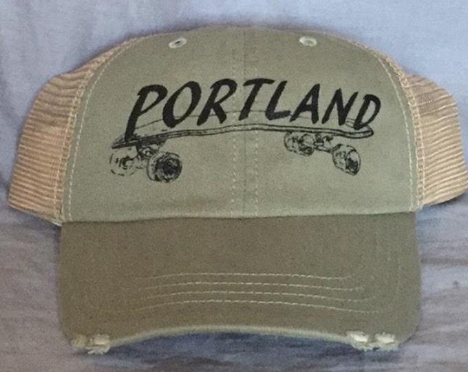 Trucker Hat, Portland, Skateboard, Tourist, Souvenir