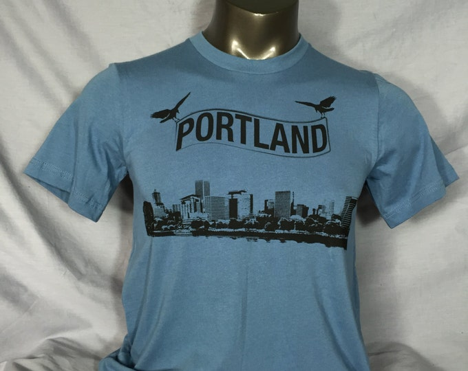 Portland Skyline, Portland TShirt, Crows,Mens Shirt