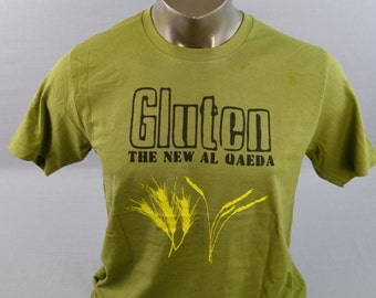 Mens T Shirt, Funny TShirt, Gluten Shirt, Gluten The New Al Qaeda