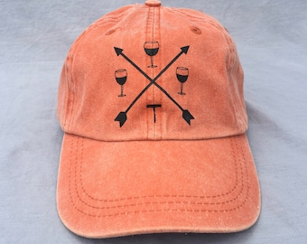 Wine, Arrows, Hat, Ball Cap, Crossed Arrows, Corkscrew
