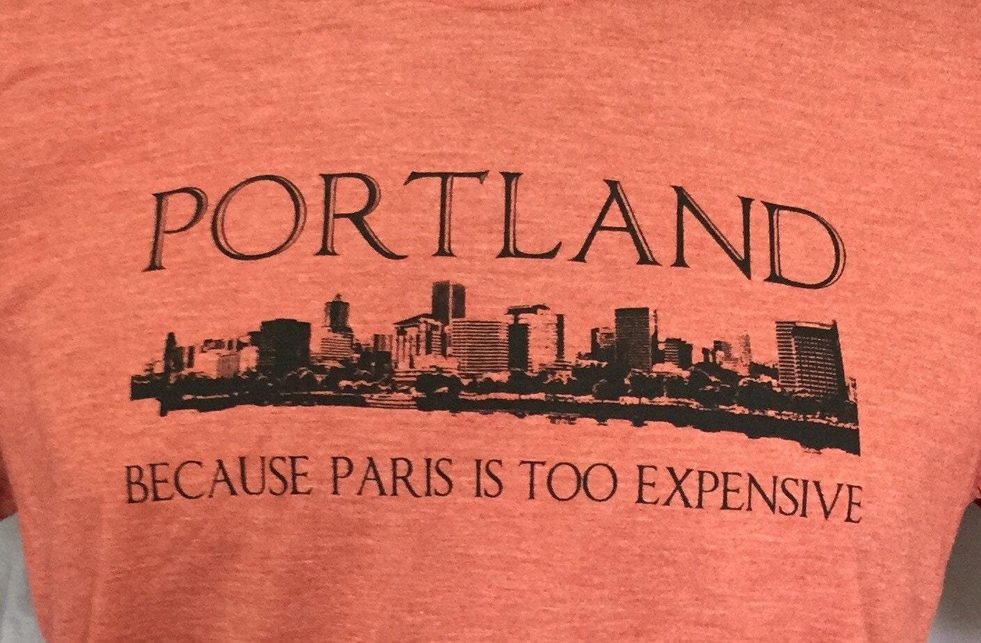 Portland Oregon Paris Funny T Shirt Mens Funny T Shirt Skyline