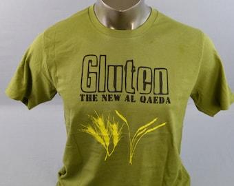 Mens T Shirt, Funny TShirt, Gluten Shirt, Gluten The New Al Qaeda