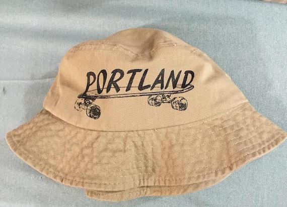 Portland Skateboard Bucket Hat Beige Tan Tourist Hat  a7e3dc1c99dd