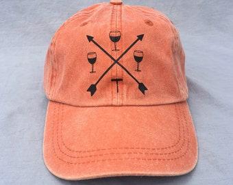 Wine, Arrows, Hat, Ball Cap, Crossed Arrows, Corkscrew