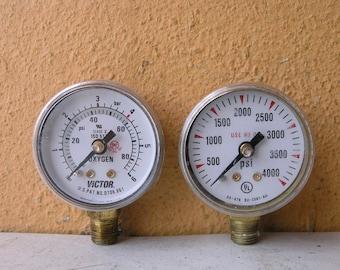 PSI pressure gauges, black or gold color, steampunk dial, industrial diy lamp supply